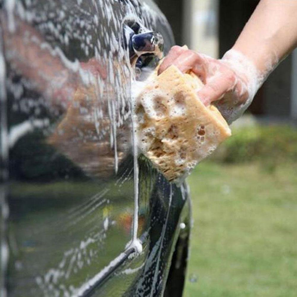ZHUOTOP Limpiador de esponja antideslizante para coche, color amarillo