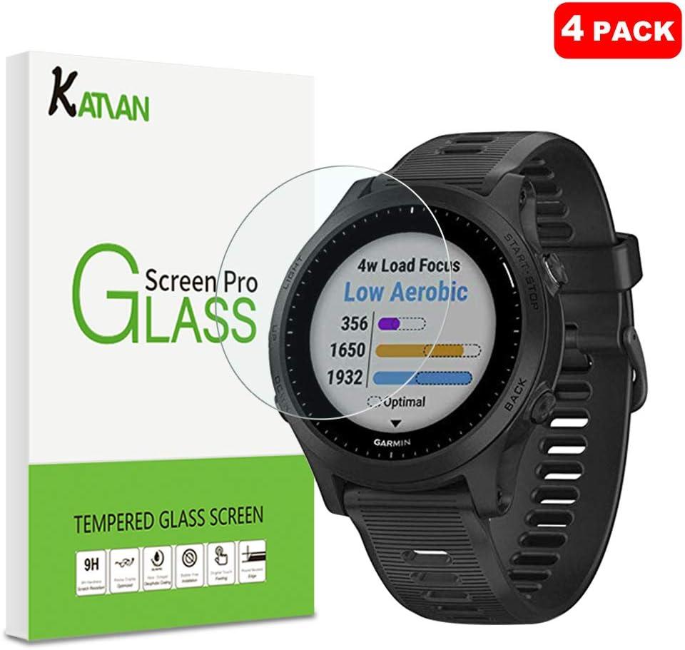KATIAN [4 Pack] Garmin Forerunner 945 Protector de Pantalla, 9H Dureza [Alta Definicion] [Fácil de Instalar] Cristal Vidrio Templado Film para Garmin Forerunner 945: Amazon.es: Electrónica