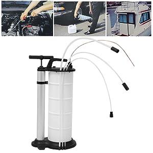 Shioucy - Bomba extractora de líquidos y aceites, profesional, 9 litros, extractor en vacío manual de succión, para transferir gasolina, para coches