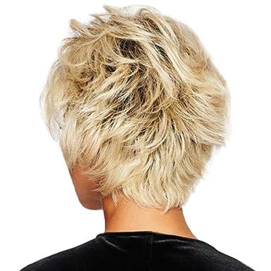 Mypace Blond - Pelo largo liso para hombre y mujer, color dorado ...