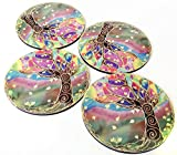 Set of 4 Photo Drink Coasters 4 Inch Round Mandala