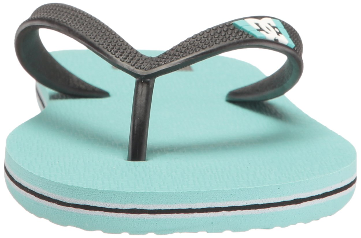 DC Girls' Spray Flip Flop, Turquoise, 6 M US Little Kid by DC (Image #4)