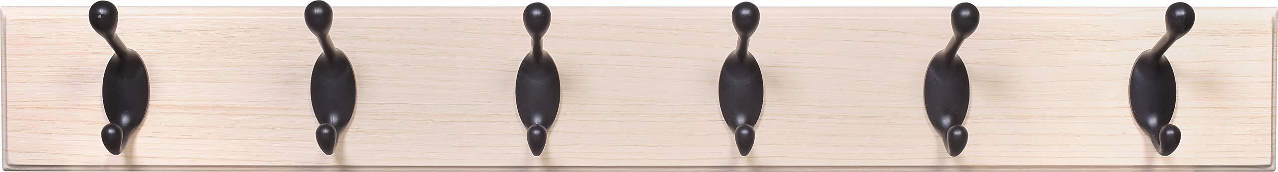 High & Mighty Fasteners 515768 27'' Beech/ORB Hillman Hook Board Light Wood & Oil Rubbed Bronze