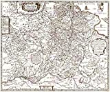 MAP ANTIQUE MERIAN 1650 GRAND DUCHY LITHUANIA LARGE REPLICA POSTER PRINT PAM1084