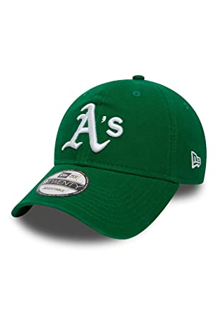 New Era Washd Team 9Twenty Adjustable Cap Oakland Athletics Grün, Size ONE  Size b7eaba1ac4