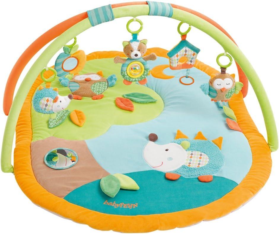Fern - Manta 3D para juegos, arco de actividades con juguetes extraíbles para bebés, desde el nacimiento naranja Sleeping Forest