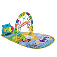 Ole Baby® 5 in 1/Kick and Play Piano/Playgym/Baby Gym/Playmat/Musical Activity Playmat/Soft Toys/Rattle Light & Sound Playmat/Discovery Carpet for Infants Toddlers Newborn