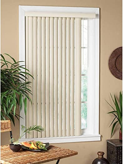 All Strong USA Vertical Alabaster Textured Window Blind 60-69 Inches Alabaster 60 x 64