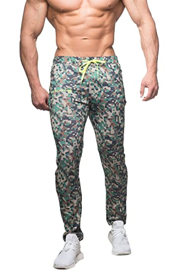 d0a6bbf978 Jed North Men's Joggers Bodybuilding Slim Fit Tight Workout Sweat Pants at  Amazon Men's Clothing store: