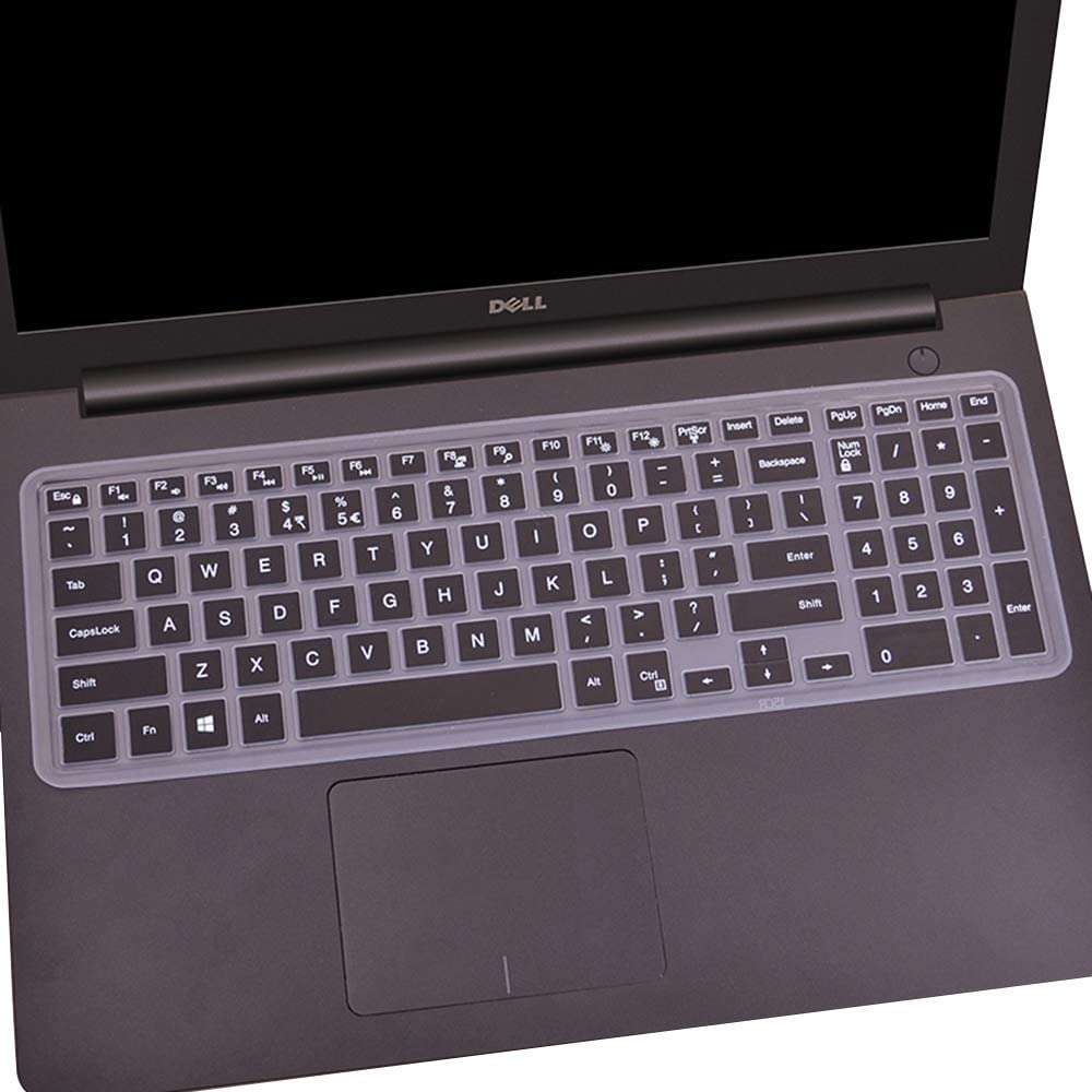 Keyboard Cover Compatible with Dell Inspiron 15 3000 5000 Series/New Inspiron 17 3000 Series/Insprion 17 7786 /Dell G3 15 17 Series/New Dell G5 15 Series/Dell G7 15 17 Series -Black