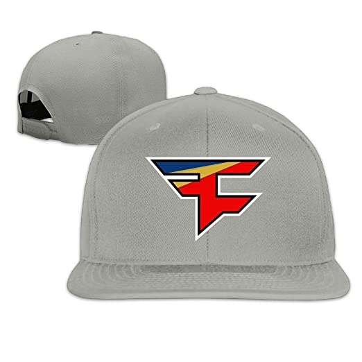 HAPYO FaZe Clan Logo Adjustable Snapback Baseball Hats Flat Cap Ash ... 724f7144633