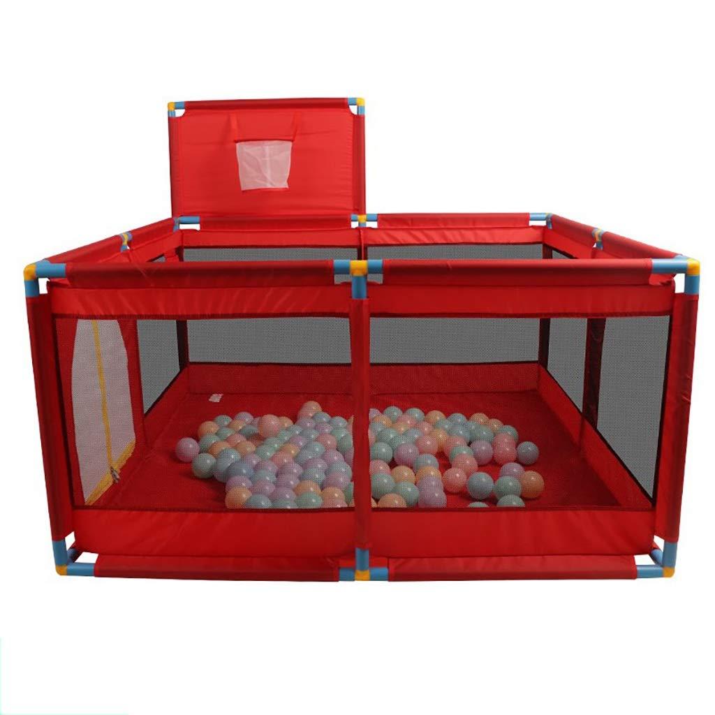 お気にいる フィットフロアマットと200の明るい色の遊び球が付いている赤い赤ん坊のベビーサークル B07Q65VX97 B07Q65VX97, ヒガシイチキチョウ:fd9f59a0 --- a0267596.xsph.ru