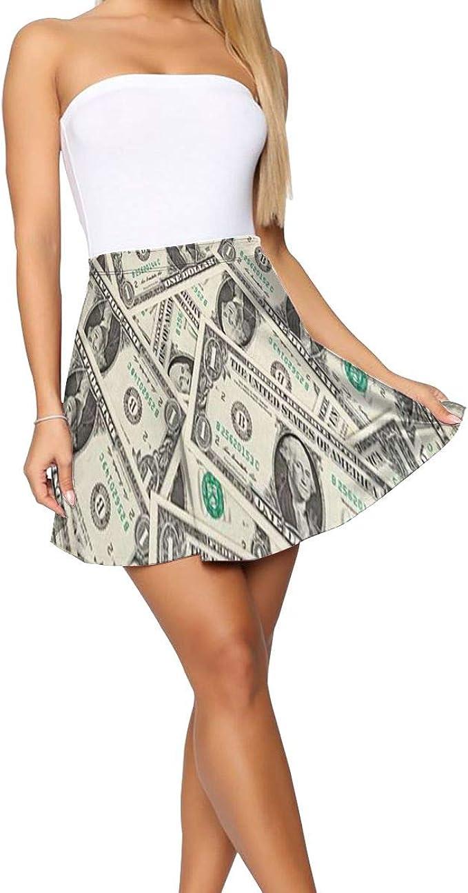 Falda Corta para Mujer Dollar Bill, Estilo Informal, para Yoga ...