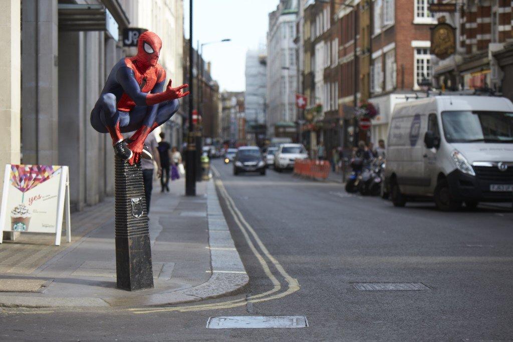 /175/cm oficial Spiderman Homecoming Fancy Dress Disfraz tama/ño grande Morphsuits Disfraz de mlsphl 163/