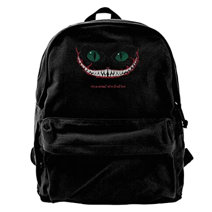50fc8062a8 Oyangqu Canvas Laptop Backpack, Waterproof School Backpack For Men Women,  Cheshire Cat Lightweight Anti