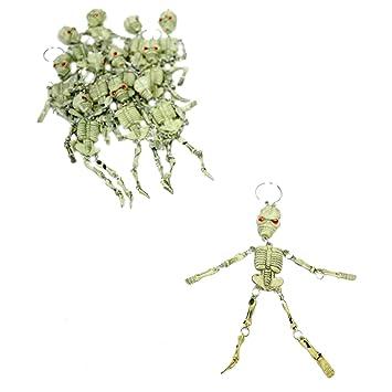Amazon.com: Paquete de 12 llaveros con forma de esqueleto ...