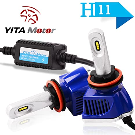 yitamotor 2pcs Philips H4 HB2 9003 – Kit de faros LED 6000 K Blanco 160 W