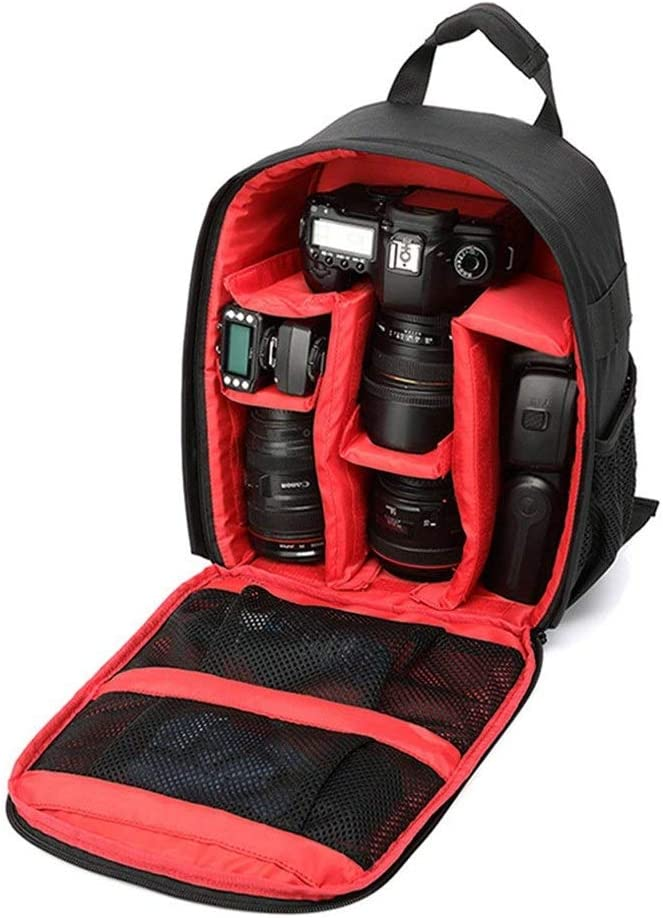 KMCMYBANG Camera Backpack Camera Backpack Waterproof Photography Bag Large Capacity Multifunctional Camera Backpack for Women and Men Camera Travel Bag Color : Green, Size : 25x15x24cm