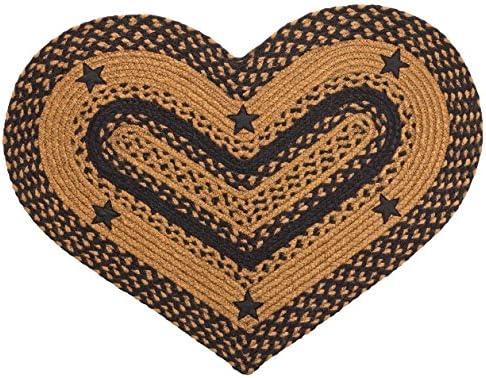 Star Black Heart Rug