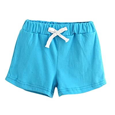 2017 Summer Children Cotton Shorts, Boys And Girl Clothes Baby Fashion Pants (5T/ 5Years, Sky Blue)