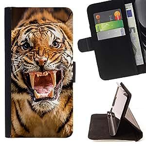 Jordan Colourful Shop - roar tiger stripes wild animal nature For LG G3 - < Leather Case Absorci????n cubierta de la caja de alto impacto > -
