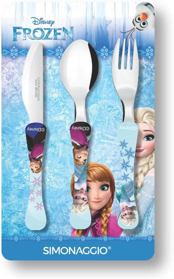 Jogo de Talheres Infantil Disney Kids Frozen, Simonaggio, Multicor, Pacote...