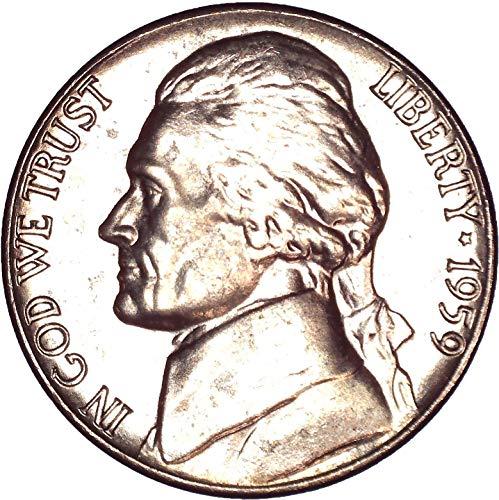 1959 Jefferson Nickel 5C Brilliant Uncirculated (Nickel Ngc Mint Jefferson)