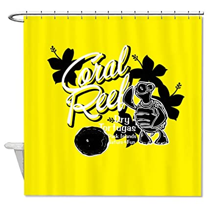 Neafts Polyester Turtle Yellow Shower Curtain Bathroom Decor Home Decorations With Hooks Set 66x72 Inches