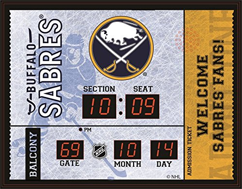 Evergreen NHL Buffalo Sabres 14X19 Scoreboard, Team Colors, One Size (Clock Neon Awesome)