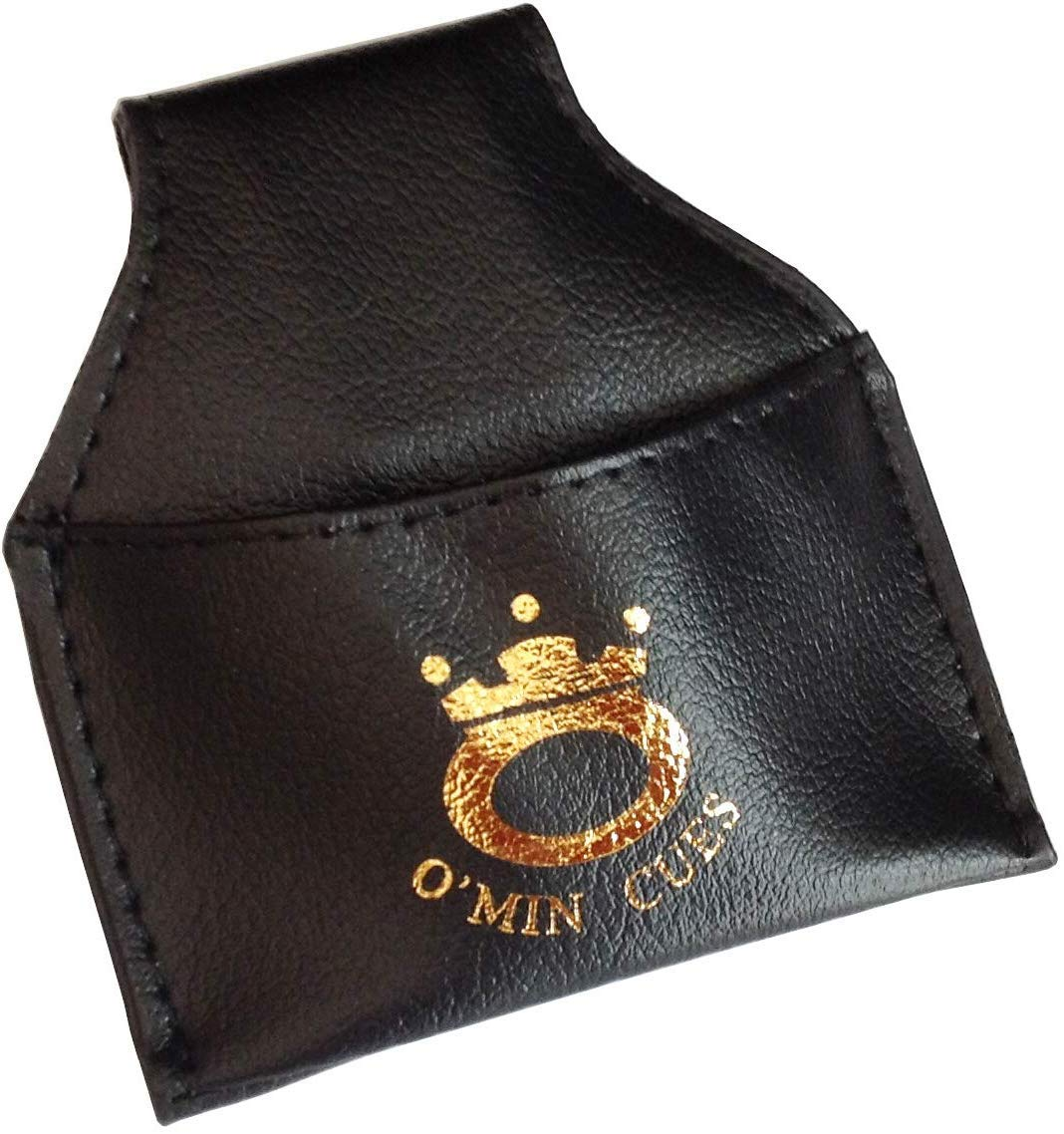 Funky Chalk Black Leatherette 2pc Pool Snooker Cue Sleeve Case
