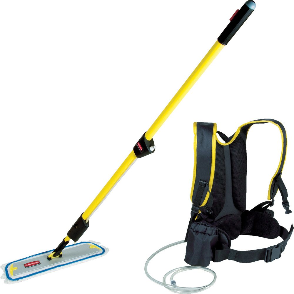 Rubbermaid Commercial FLOW Flat mop Finish Kit, 1-1/2 Gallon, Yellow, FGQ97900YL00