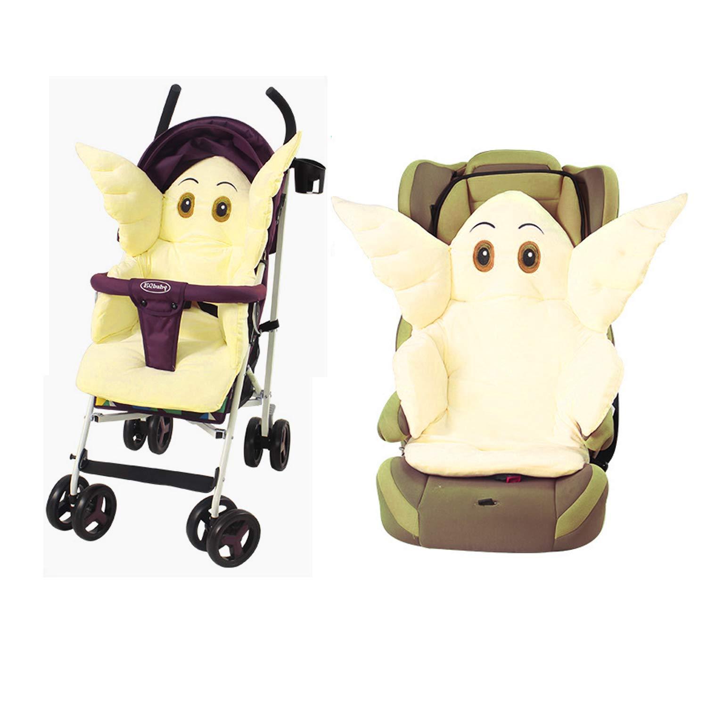 Fitzulam Kinderwagenkissen Baby Buggy Kinderwagen Kinderwagen Kinderwagen Sitzauflage Sitzauflage Warmhalteweiche Matratze Blauer Elefant