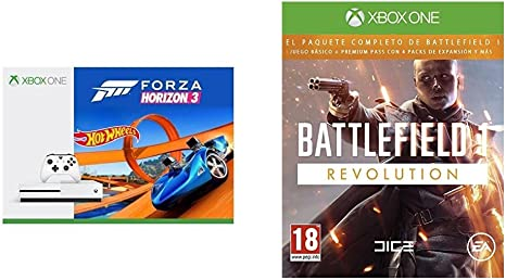 Xbox One S - Consola 500 GB + Forza Horizon 3 + Hot Wheels + Battlefield 1 - Edición Revolution: Amazon.es: Videojuegos