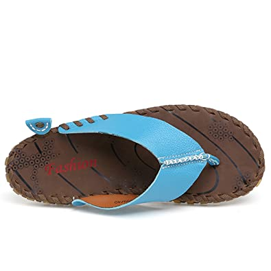 acdc776809eed1 Z.SUO Herren-Leder-Gemütliche Flip-Flop Zehentrenner Sandalen  Amazon.de   Schuhe   Handtaschen