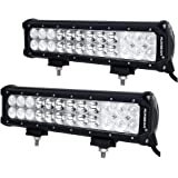 "Auxbeam 2Pcs 12"" LED Light Bar 72W CREE LED Driving Light 72W 7200lm Combo Beams Waterproof for Jeep off-road ATV SUV AWD 4WD 4x4 Pickup Van Camper Wagon"