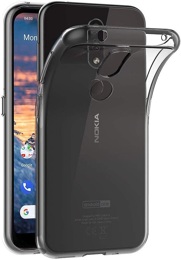 AICEK Funda Compatible Nokia 4.2, Transparente Silicona Fundas ...