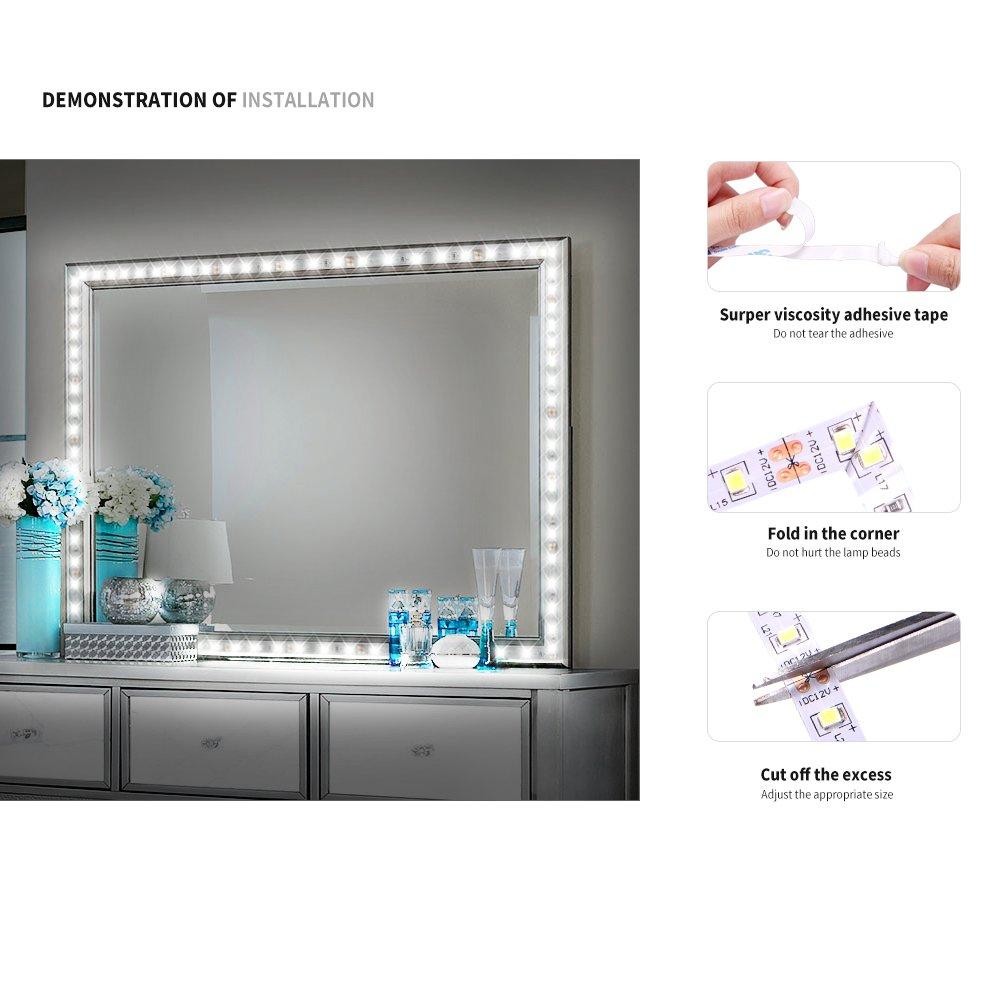 Led Vanity Mirror Lights Kits 4m13ft White Led Strip Lights