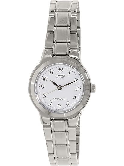 1ce9cad38157 CASIO 19206 LTP-1131A-7BR - Reloj Señora Cuarzo Brazalete metálico dial  Blanco  Casio  Amazon.es  Relojes