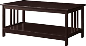 Convenience Concepts Mission Coffee Table, Espresso