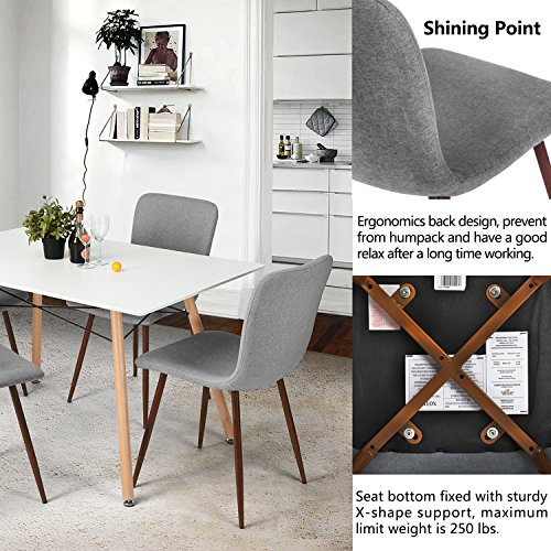 Kitchen Without Furniture: Coavas Set Of 4 Kitchen Dining Chairs Fabric Cushion Side