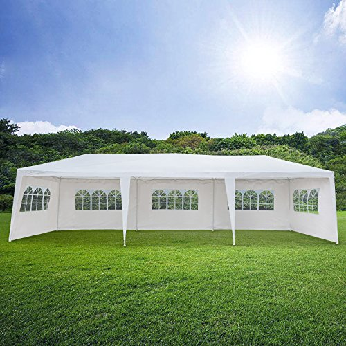Mefeir Heavy Duty Outdoor Canopy Tent Gazebo with Removable Windproof Sidewalls (10' x 30' w/8 Removable Sidewalls) - Frame Wedding Canopy