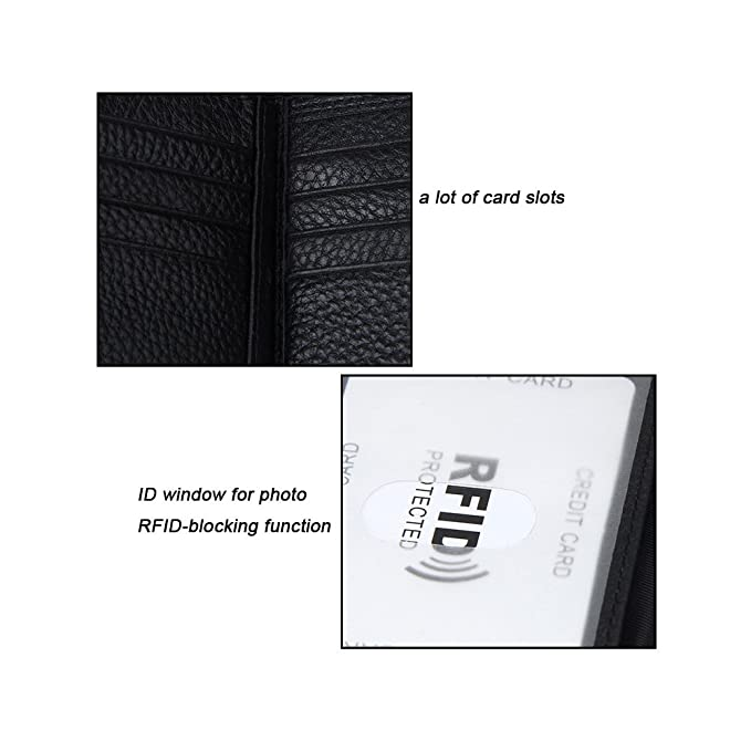 6b5179a3979e MuLier Classic Mens RFID Blocking Genuine Leather Trifold Wallet with Cions  Pouch & ID Windows