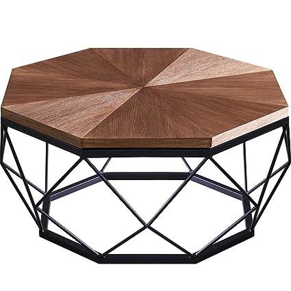 Hexagonal Wooden Side Table Living Room Bedroom Balcony Corner End