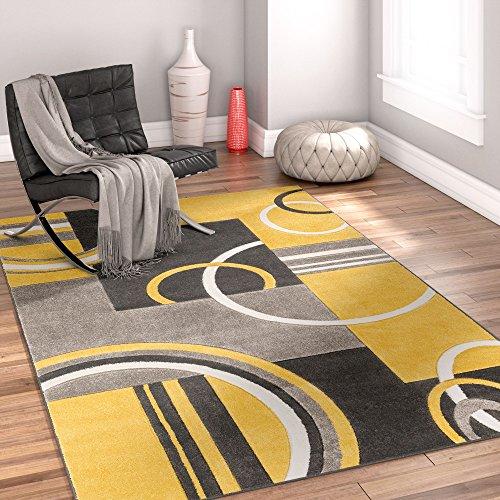 Echo Shapes & Circles Golden Yellow 8x10 8x11 ( 7'10