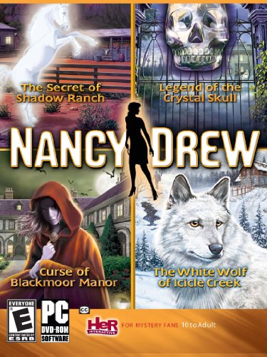 (Nancy Drew 4 Pack-Secret of Shadow Ranch, Curse of Blackmoor Manor, White Wolf of Icicle Creek, Legend of the Crystal Skull - Windows (select))