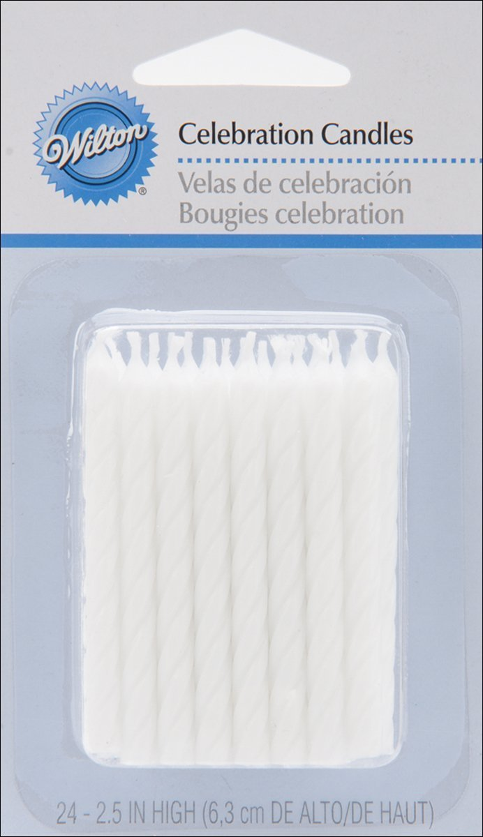 Wilton Birthday Candles, 2.5-Inch, White, 24-Pack