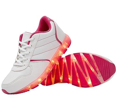 Led Luz Hasta De Intermitente Batería Zapatos 11 Deportes Colores BoQWrdCex