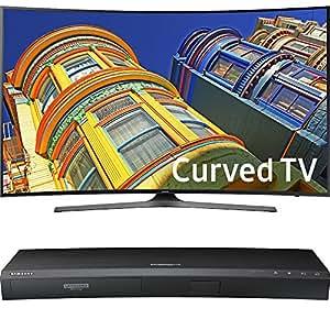 Samsung Curved 65-Inch 4K Ultra HD LED Smart TV - KU6500 6-Series (UN65KU6500) with Samsung 3D Wi-Fi 4K Ultra HD Blu-ray Disc Player