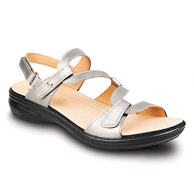 3b780b0e171b Revere Miami - Womens Adjustable Sandal Gunmetal - 5 Medium