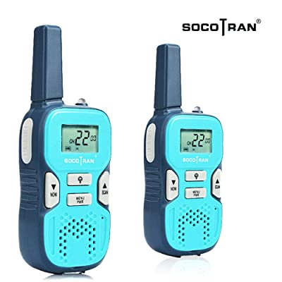 SOCOTRAN Walkie Talkies Small License Free Two Way Radios USB Charging Flashlight 5 Miles Distance Walky Talkies for Family Travel Camping Hiking 2 Pack: Car Electronics